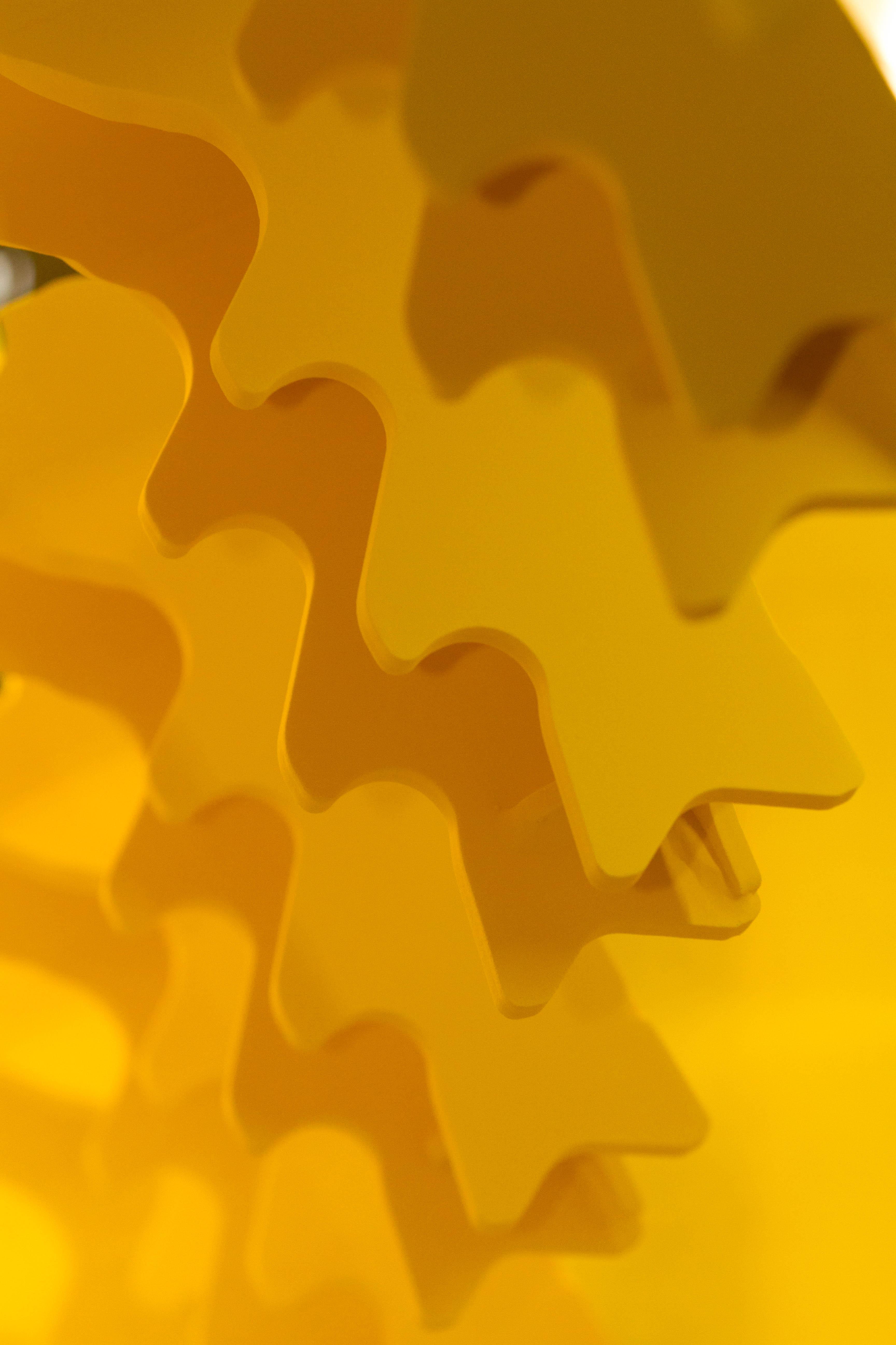 poudrage électrostatique jaune