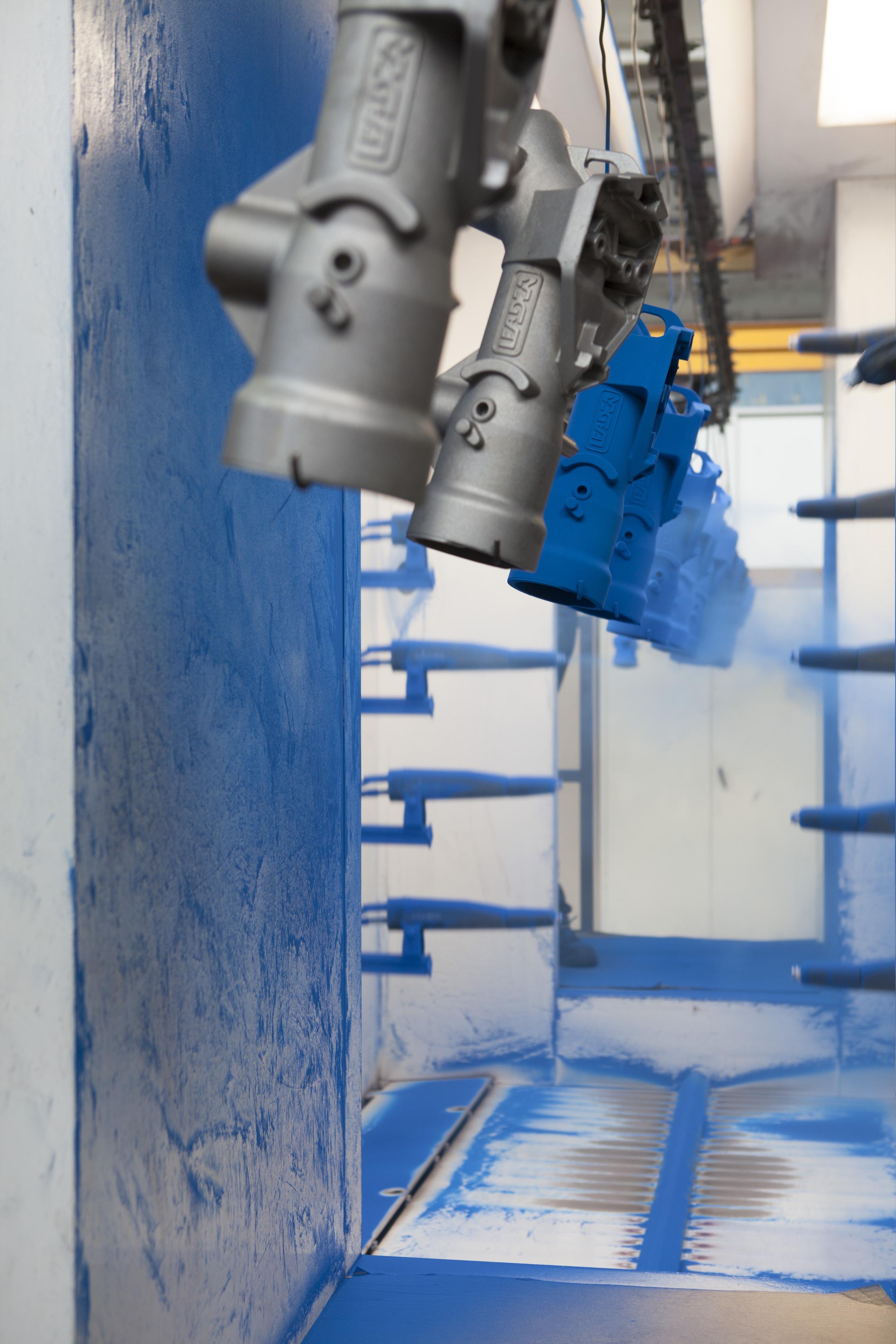 Application poudrage robotisée